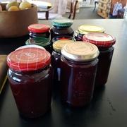 Black Doris plum jam