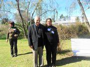 Con el doctor Kahan en el congreso ecologico literario `Pehuajo 2013