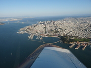 Downtown San Francisco and the Bay bridge