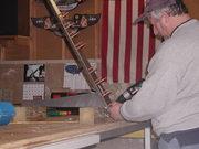 Drilling bottom rib to rudder spar