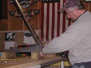 Drilling rudder bottom rib to rudder spar