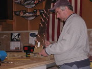 Fitting rudder bottom rib and spar together