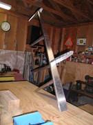 Completed rudder skeleton