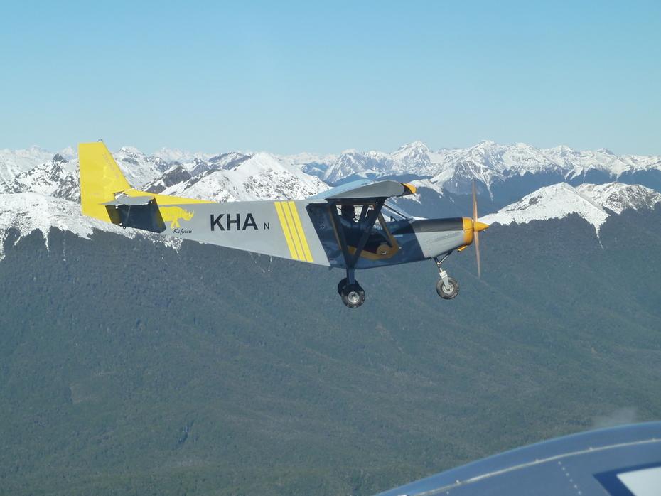 CH701 (kha) flying to Karamea for lunch