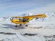 STOL CH 750 on wheel skis
