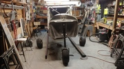 CH750 STOL Fuselage on Gear for the First Time Front View