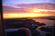 Sunset near John F.Kennedy airport