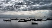 Συννεφιασμένη λιμνοθάλασσα..