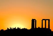 Δύση στον ναό του Ποσειδώνα...