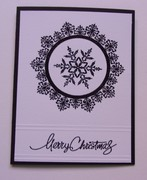Black and White Holiday Card Two