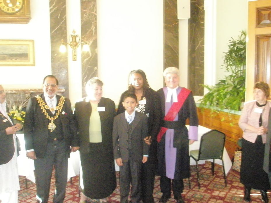 Sharon Thompson, with my son,  JP Chairperson, Judge and Lord Mayor
