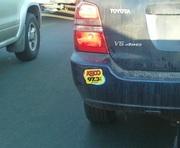 Cover-up bumper sticker!