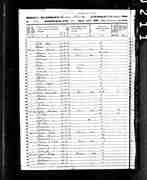 1850 Census Record for Lewis Adams & Family