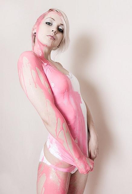 人體彩繪粉紅系列02