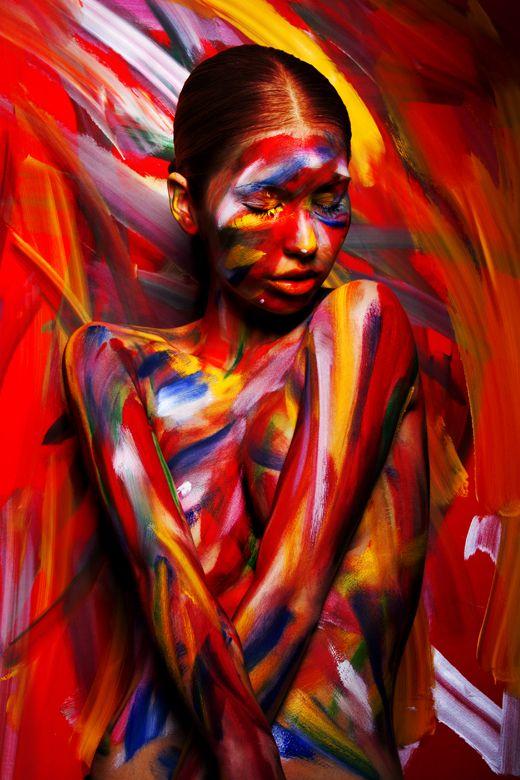 人體彩繪藝術 紅系列
