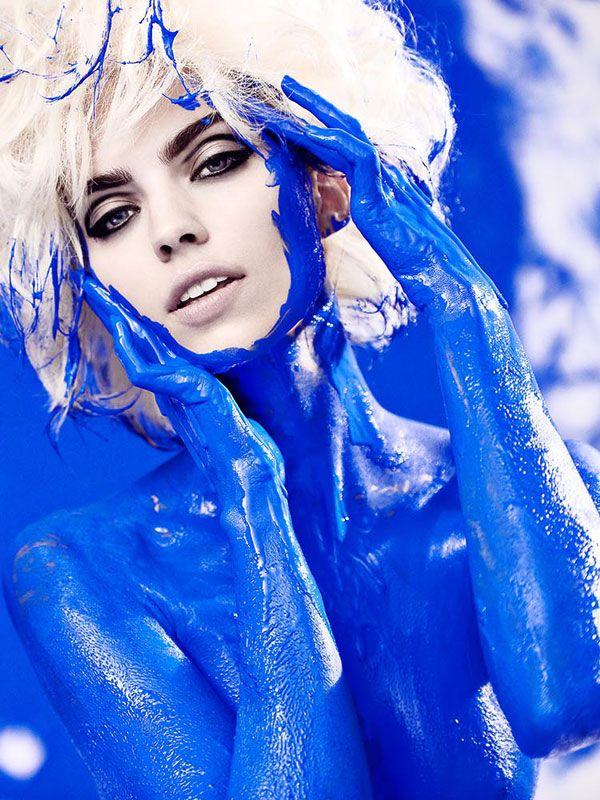人體彩繪藝術 藍系列