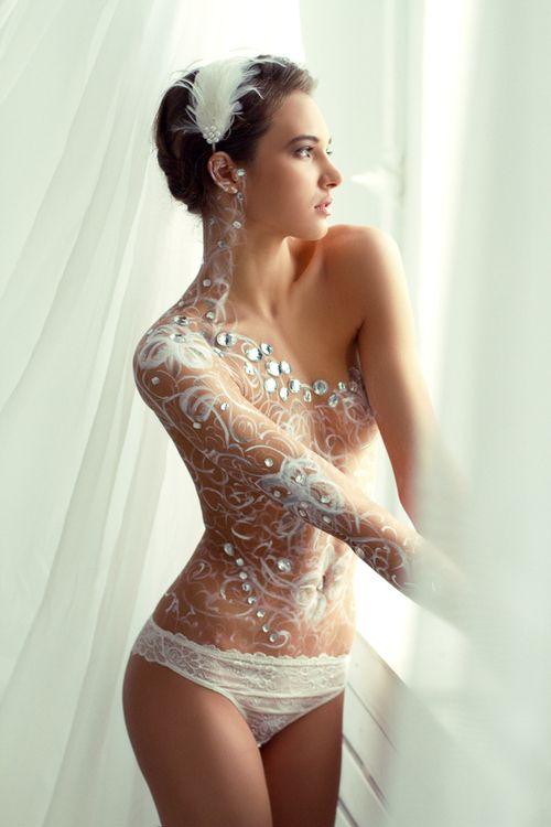 人體彩繪白系列
