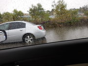 Flooding on the exit to Fletcher Parkway from 8 East