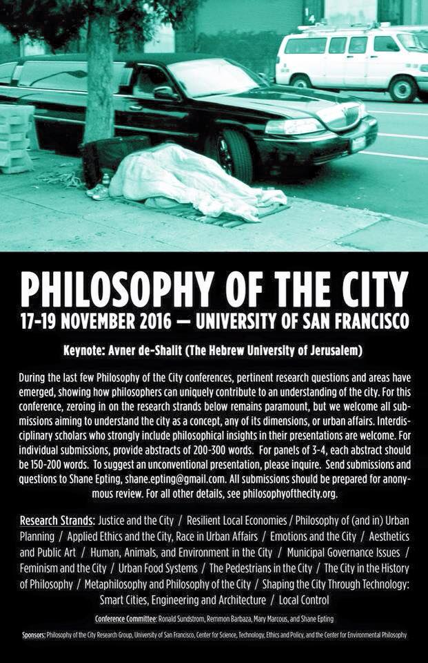 Philosophy of the City CFP 2016