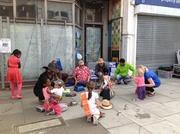 Kitchen  drumming at Myddleton Road street party