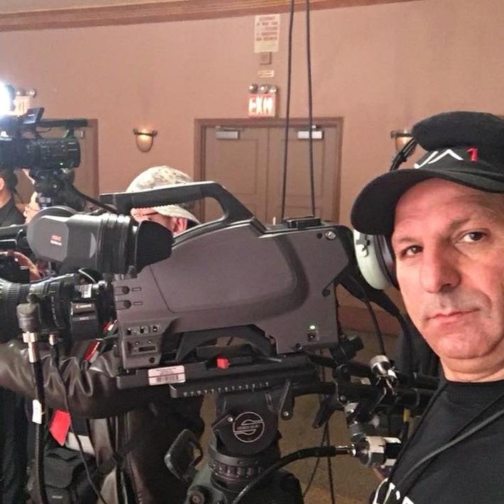 On TV set