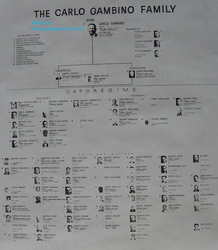 Gambino Family Chart