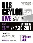Ras Ceylon LIVE!!!!! w/ Mandeep Sethi at Ashkenaz