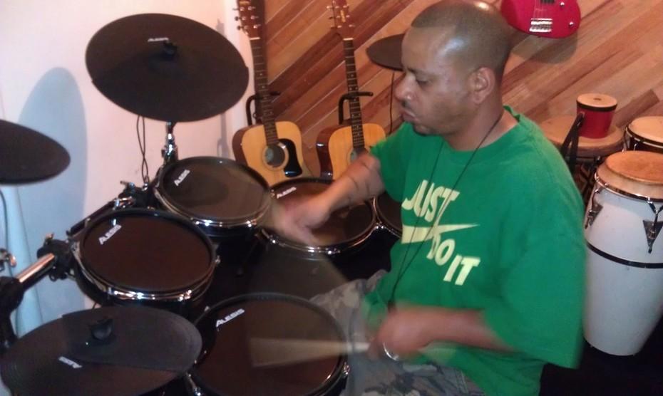 JB on drums