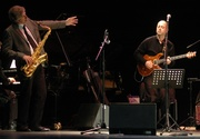 Roberto Tola with Bob Mintzer  (Photo Agostino Mela)