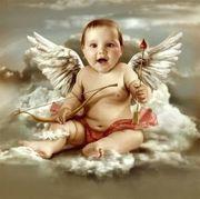 ANGELITO, NENE CON ALAS Y FLECHAS DE CUPIDO