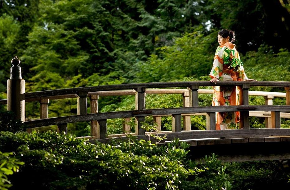 Garden and  Kimono