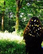 ყვავილნარი თმაზე