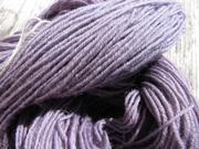 Sockenwolle nach dem Trocknen