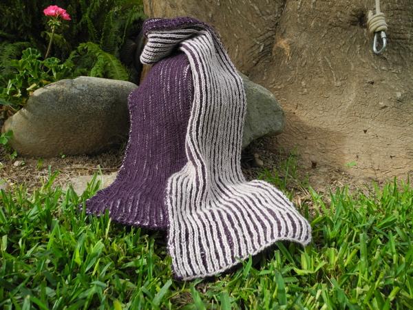 Schal Patentrippen zweifarbig