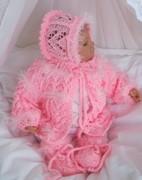 Rosa Babygarnitur