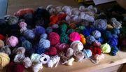 Wollreste für Decke