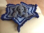 Elefant Kuscheltuch