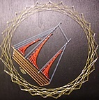Segelschif Nagelbild