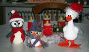 Weihnachtsgans und Pinguine