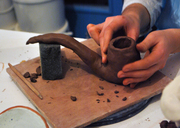 a pipe/pen pot