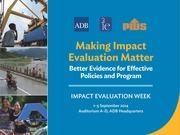 Making Impact Evaluation Matter