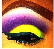 Yellow & Purple Dramatic Cut Crease