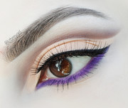 Neutral Makeup with a Pop of Purple