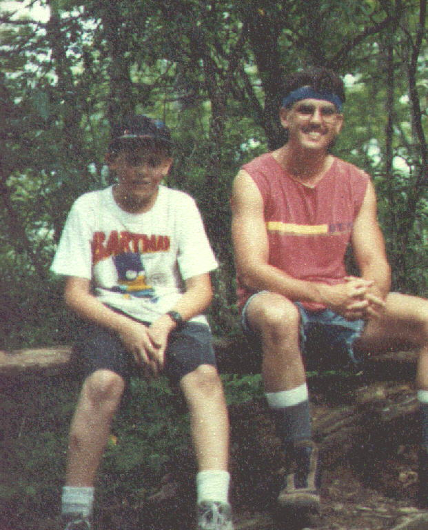 1990 Me and Chris - Russell Field Trail