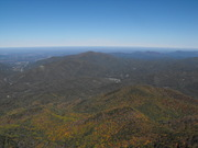 Looking down from Mt Cammerer