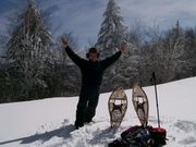 Snowshoeing to the Dome