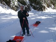 Pulking Clingmans Dome on Snowshoes