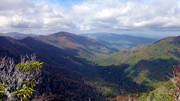 Looking North. Sugarland Mt to left, Mt LeConte on right.