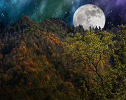 The Chimney Tops Super Moon