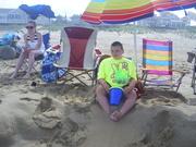 Jeffrey lounging at the beach